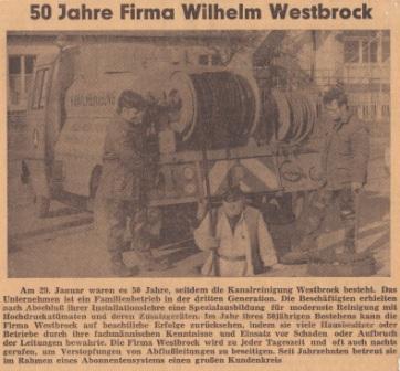 50 Jahre Westbrock